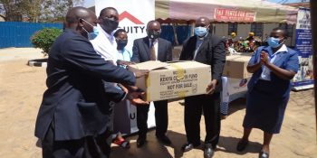 Equity Bank donates PPEs to Our Lady of Lourdes Mutomo Hospital – 6th October 2021